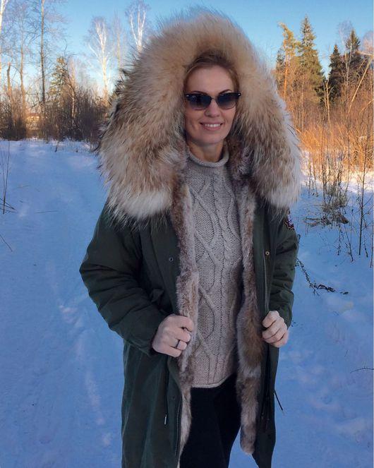 Верхняя одежда ручной работы. Ярмарка Мастеров - ручная работа. Купить Куртка на подкладке из меха рыси. Handmade. Куртка женская