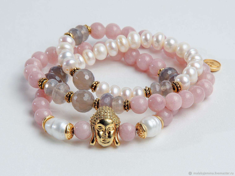 Triple bracelet beads with Buddha, Bead bracelet, Magnitogorsk,  Фото №1