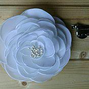 Украшения ручной работы. Ярмарка Мастеров - ручная работа Брошь из шелка цветок. Handmade.