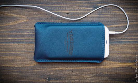 Для телефонов ручной работы. Ярмарка Мастеров - ручная работа. Купить Кожаный чехол ручной работы для iPhone 5,6,6 plus. Handmade.