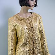 """Одежда ручной работы. Ярмарка Мастеров - ручная работа Куртка-жакет """"Золото II"""". Handmade."""