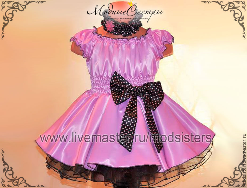 Детское платья из атласа фото