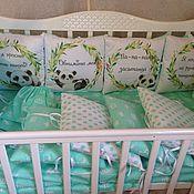 Комплекты одежды ручной работы. Ярмарка Мастеров - ручная работа Комплект в детскую кроватку 19 предметов. Handmade.
