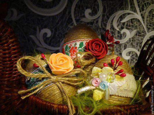 Подарки на Пасху ручной работы. Ярмарка Мастеров - ручная работа. Купить Пасхальные яйца яркое украшение домашнего интерьера. Handmade.