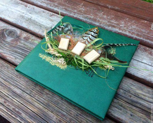 Блокноты ручной работы. Ярмарка Мастеров - ручная работа. Купить Скетчбук в обложке из экокожи (кожзама). Handmade. Тёмно-зелёный, ведьмочка
