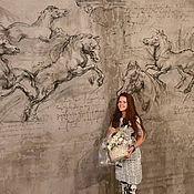 Декор ручной работы. Ярмарка Мастеров - ручная работа Роспись стен в ресторане. Handmade.