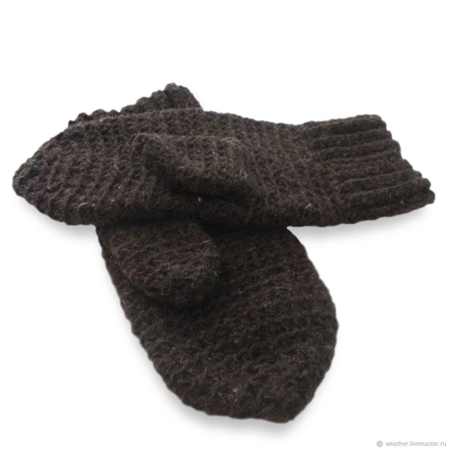 Mittens crocheted men's taupe, Mittens, Rostov-on-Don,  Фото №1