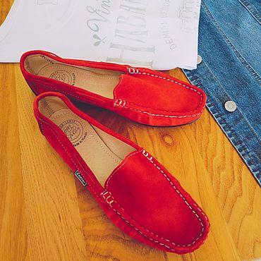 Обувь ручной работы. Ярмарка Мастеров - ручная работа Мокасины замшевые Captor женские. Handmade.