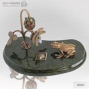 Сувениры и подарки handmade. Livemaster - original item Dreamers bronze moonstone on the plate of the coil. Handmade.