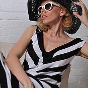 Одежда handmade. Livemaster - original item MG_037 straight Dress, black and white stripe.. Handmade.