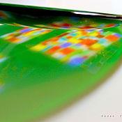 Посуда ручной работы. Ярмарка Мастеров - ручная работа блюдо из стекла, фьюзинг  Цветные окна. Handmade.