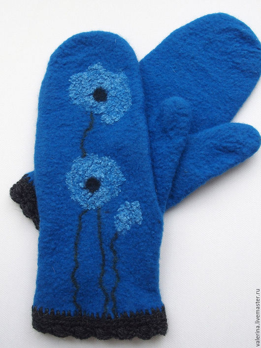 Рисунок перчатки на руке