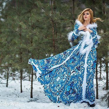 """Одежда ручной работы. Ярмарка Мастеров - ручная работа """"Bouquets de Fleur"""" Платье из платков в стиле А-ля Русс. Handmade."""