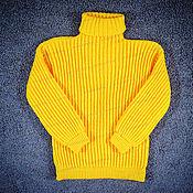 Одежда handmade. Livemaster - original item Sweater knitted yellow (No. №644). Handmade.