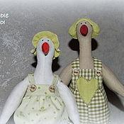 Куклы и игрушки ручной работы. Ярмарка Мастеров - ручная работа Пара пасхальных гусей тильда.. Handmade.