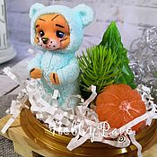 Материалы для творчества handmade. Livemaster - original item A set of three silicone molds of a tiger cub in pajamas. Handmade.