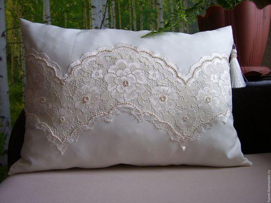 Текстиль, ковры ручной работы. Ярмарка Мастеров - ручная работа. Купить Подушка декоративная. Handmade. Кремовый, подарок на любой случай