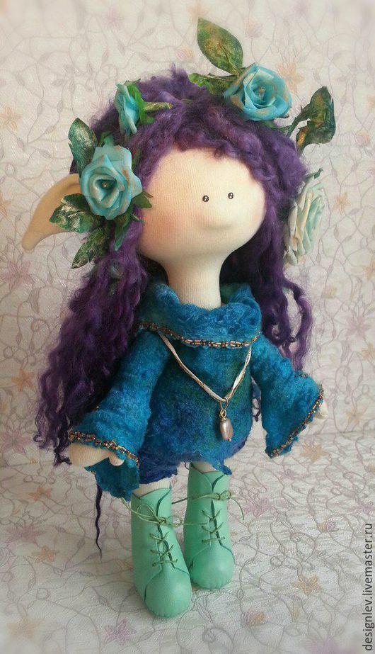 Сказочные персонажи ручной работы. Ярмарка Мастеров - ручная работа. Купить Eluna. Handmade. Комбинированный, валяная одежда, кукла интерьерная