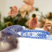 """Украшения ручной работы. Ярмарка Мастеров - ручная работа Браслет """"Будуары Анет"""", лаванда. Handmade."""