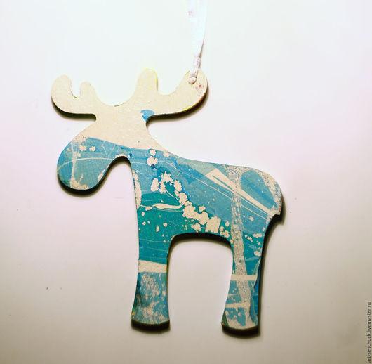 """Новый год 2017 ручной работы. Ярмарка Мастеров - ручная работа. Купить """"Лосик"""" (есть другие цветовые решения). Handmade."""