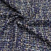 Ткани ручной работы. Ярмарка Мастеров - ручная работа Ткань  шанель  т.синяя. Handmade.