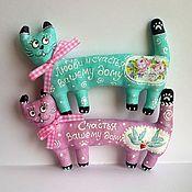 Куклы и игрушки ручной работы. Ярмарка Мастеров - ручная работа Кошка. Котик. Магниты. Handmade.