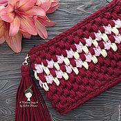 "Сумки и аксессуары handmade. Livemaster - original item Knitted clutch bag ""the Cherry orchard"". Handmade."