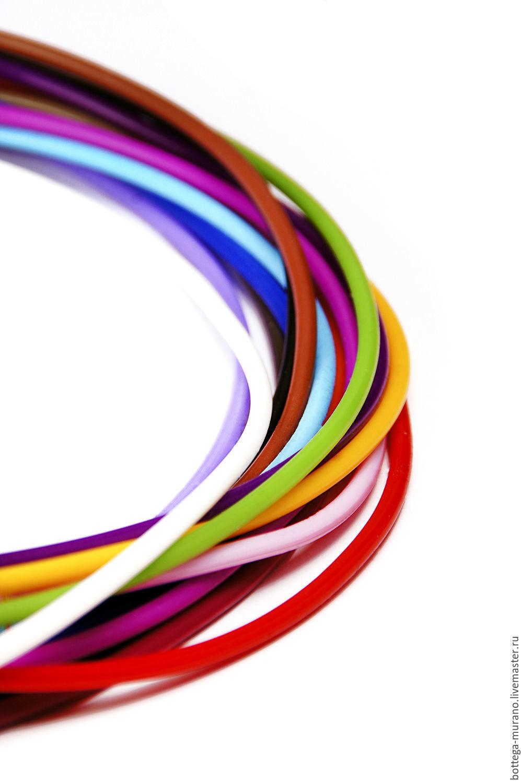 ручной работы. Ярмарка Мастеров - ручная работа. Купить Каучук, диаметр 3 мм, 11 метров. Handmade. Красный, белый
