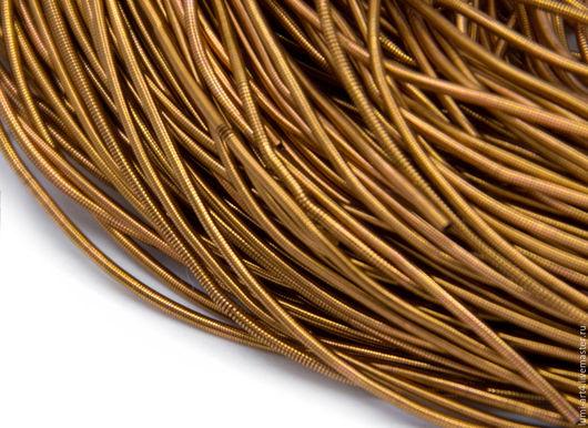 Для украшений ручной работы. Ярмарка Мастеров - ручная работа. Купить Канитель 1мм мягкая гладкая Бронза (KAN-12) Индия. Handmade.