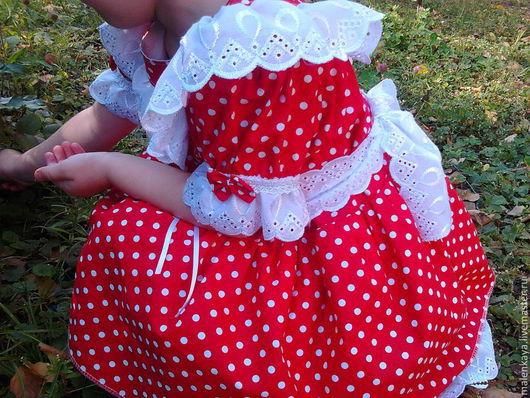 """Одежда для девочек, ручной работы. Ярмарка Мастеров - ручная работа. Купить платье для девочки """" в горошек"""". Handmade. В горошек"""