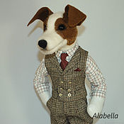 Мягкие игрушки ручной работы. Ярмарка Мастеров - ручная работа Собака  Джек рассел терьер. Handmade.