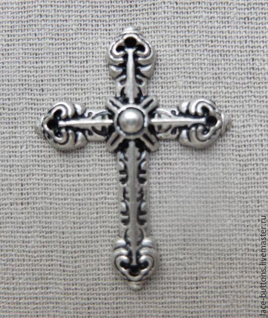 Шитье ручной работы. Ярмарка Мастеров - ручная работа. Купить Декоративный элемент пришивной Крест 3,5см х 4,5см. Handmade.