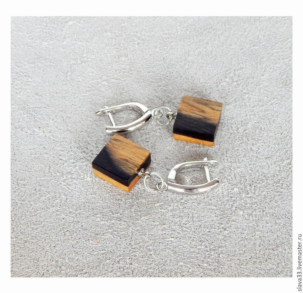 Rectangular earrings, Earrings, Vladimir,  Фото №1