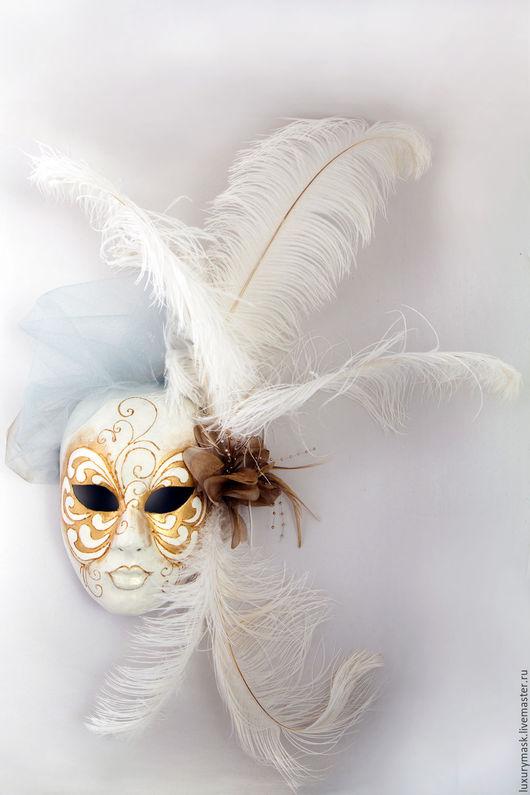 Карнавальные костюмы ручной работы. Ярмарка Мастеров - ручная работа. Купить Венецианская маска Fiesta White. Handmade. Белый, венеция