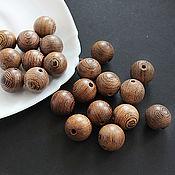 handmade. Livemaster - original item Wenge beads a valuable tree of the genus Milletia ball 18mm. Handmade.