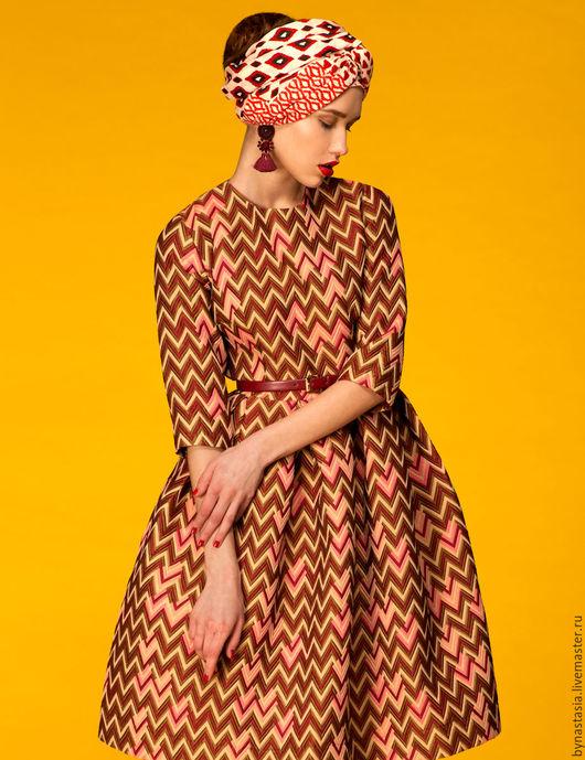 """Платья ручной работы. Ярмарка Мастеров - ручная работа. Купить Платье """"Миссони"""" ПОСЛЕДНЕЕ ПЛАТЬЕ. Handmade. Комбинированный, стиляги"""