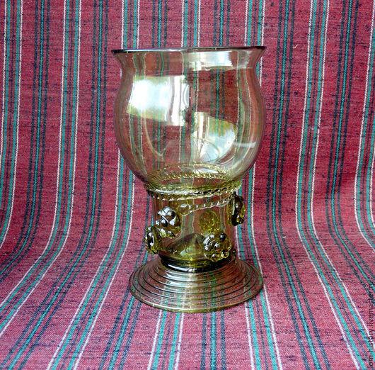 Бокалы, стаканы ручной работы. Ярмарка Мастеров - ручная работа. Купить Рёмер с бортиком / бокал / историческая посуда. Handmade.