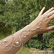 Слейв-браслет ручной работы. Ярмарка Мастеров - ручная работа Восточный слейв браслет с жемчугом Древний мир свадебный браслет. Handmade.