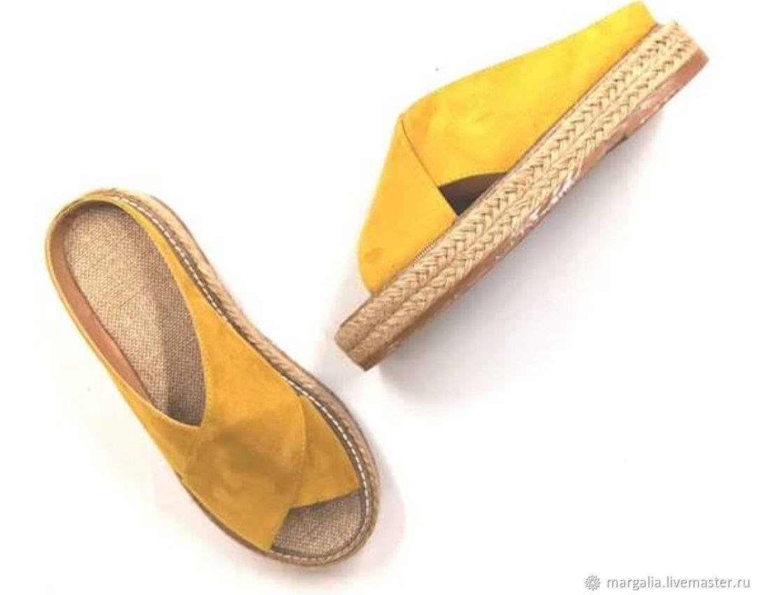 Обувь ручной работы. Ярмарка Мастеров - ручная работа. Купить Сабо. Handmade. Обувь ручной работы, шлепки, обувь на заказ