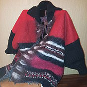 Одежда ручной работы. Ярмарка Мастеров - ручная работа куртка-накидка валяная. Handmade.