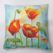 Для дома и интерьера handmade. Livemaster - original item Batik. Copyright decorative pillow