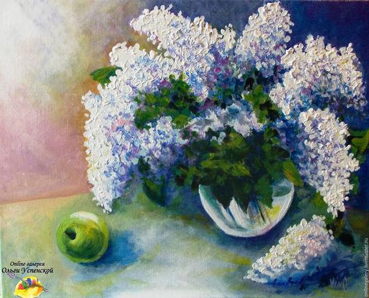 """Натюрморт ручной работы. Ярмарка Мастеров - ручная работа. Купить Картина """"Весеннее настроение"""" акрил 40х50см. Handmade. Картина, цветы"""