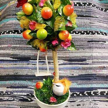 """Цветы и флористика ручной работы. Ярмарка Мастеров - ручная работа Топиарий """"Яблочный сад"""". Handmade."""
