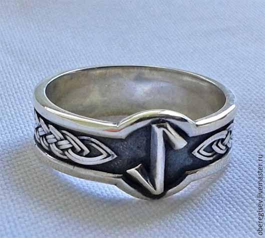 Кольцо с Руной Эйваз из серебра с черением 4-6 грамм -1100руб. Под заказ 5дн.;
