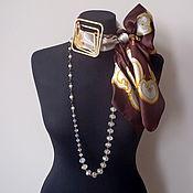 Украшения handmade. Livemaster - original item Scarf-necklace 174 Atlas. Handmade.