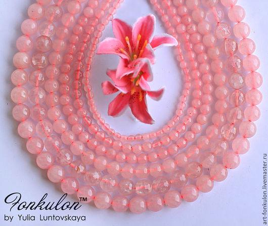Для украшений ручной работы. Ярмарка Мастеров - ручная работа. Купить Розовый кварц 4мм 6мм 8мм 10мм 12мм 14мм Огранка Гладкий. Handmade.