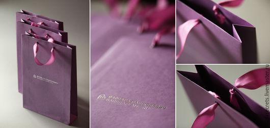 Подарочная упаковка ручной работы. Ярмарка Мастеров - ручная работа. Купить Пакет бумажный с логотипом. Handmade. Пакет, пакетики