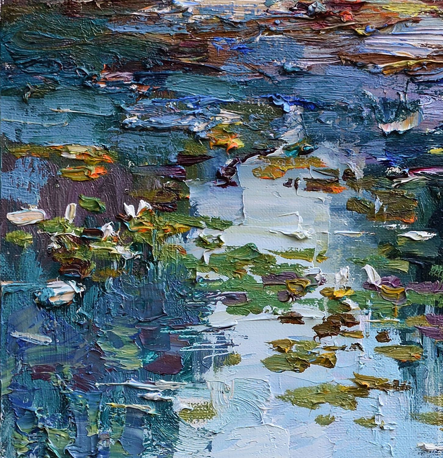 Oil Painting Of Pond Lilies
