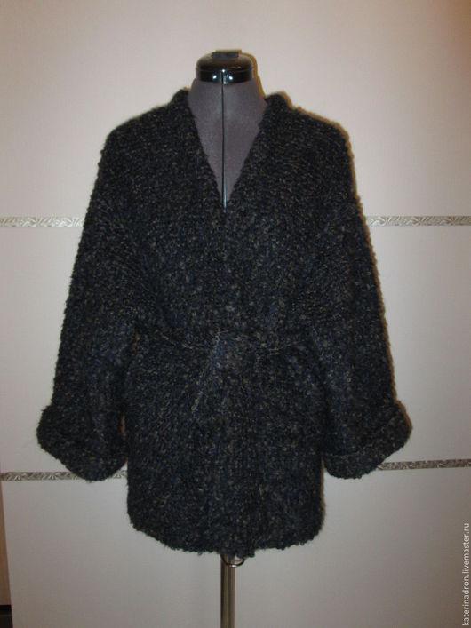 Кофты и свитера ручной работы. Ярмарка Мастеров - ручная работа. Купить Кардиган из шерсти. Handmade. Тёмно-синий, шерстяной кардиган
