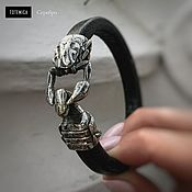 Украшения handmade. Livemaster - original item Scorpion   Melchior Leather Bracelet. Handmade.